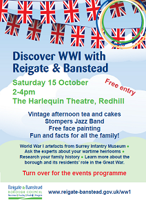 Discover WWI event flyer image
