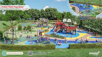 Artist impression of the Priory Park playground refurb design
