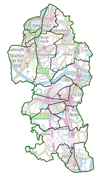 low-res borough map showing current ward boundaries