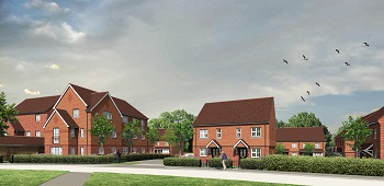 Artist impression of how the news homes on the Pitwood Park redevelopment will look