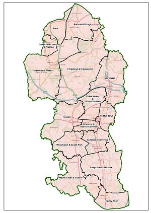LGBCE Boundary Review draft recommendations consultation map of proposed new wards