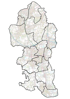 Ward map of Boundary Commission's final recommendations - unlabelled