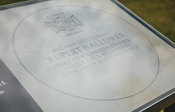 Memorial Stone in honour of 2Lt Rupert Price Hallowes VC