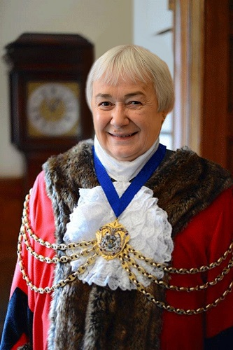 A photo of the new Mayor, Cllr Absalom