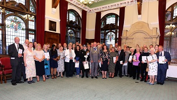 A photo of the Mayor's Volunteer Awards 2019 winners