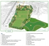 Draft aerial plan of the Merstham recreation ground layout
